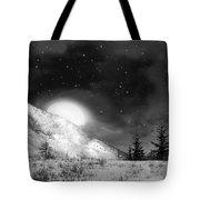 Winter Magic In Black And White Tote Bag