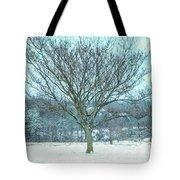 Winter Mimosa Painterly Tote Bag