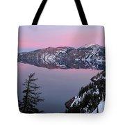 Winter Mirror At Crater Lake Tote Bag