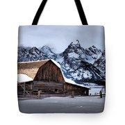 Winter Morning At John Moulton Barn Tote Bag