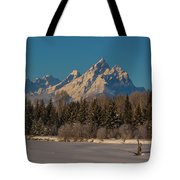 Winter Morning At The Grand Tote Bag
