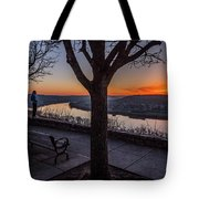 Winter Morning Breath Tote Bag