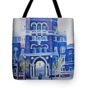 Winter Morning On Campus Tote Bag