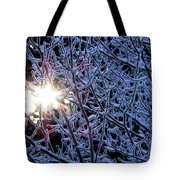 Winter Morning Sunrise Tote Bag