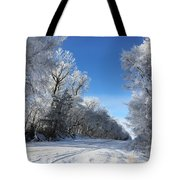 Winter On 210th St. Tote Bag