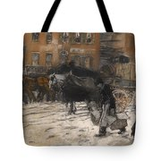 Winter On 21st Street - New York Tote Bag