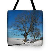 Winter On A Country Road Tote Bag