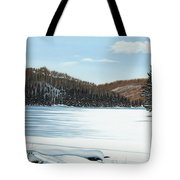 Winter On An Ontario Lake  Tote Bag