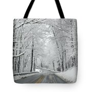 Winter On Buffalo Road Tote Bag