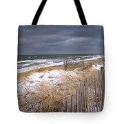 Winter On Cape Cod Sandy Neck Beach Tote Bag