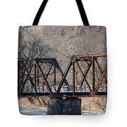 Winter On Knapps Creek Tote Bag