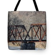 Winter On Knapps Creek Tote Bag