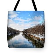 Winter On The Cedar Tote Bag