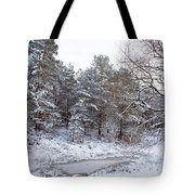 Winter On The Chase Tote Bag