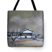 Winter On The Farm Tote Bag