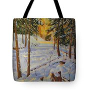 Winter On The Lane Tote Bag