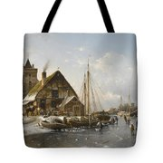 Winter On The Rhine Tote Bag