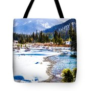 Winter On The River Tote Bag
