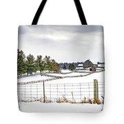 Winter Ontario Farm 3 Tote Bag
