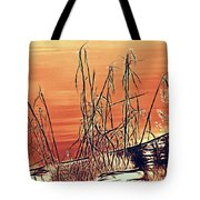 Winter Orange Tote Bag