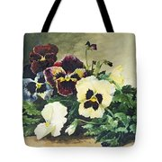 Winter Pansies Tote Bag