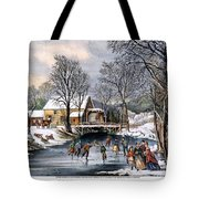 Winter Pastime, 1870 Tote Bag