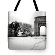 Winter Path To Glory Tote Bag