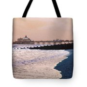Winter Pier Tote Bag