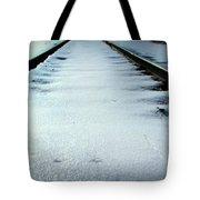 Winter Railroad Tracks Tote Bag