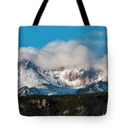Winter Receding On Pikes Peak Tote Bag