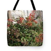 Winter Red Berries Tote Bag