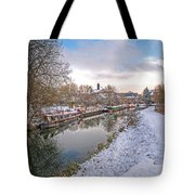 Winter Reflections On The River Tote Bag