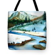 Winter Retreating Tote Bag