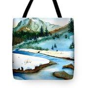 Winter Retreating Tote Bag