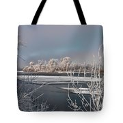 Winter River Light Tote Bag