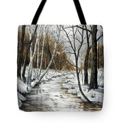 Winter River Tote Bag