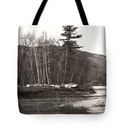 Winter River Number One Tote Bag
