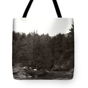 Winter River Number Two Tote Bag