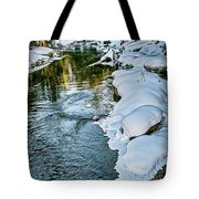 Winter River Reflections - Yellowstone Tote Bag