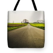 Winter Road Ground Level Tote Bag