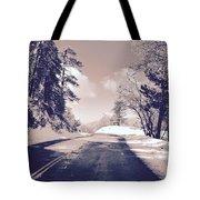 Winter Roads Tote Bag