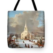 Winter Scene, C1875 Tote Bag