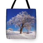 Winter Scene Genessee, Id Tote Bag