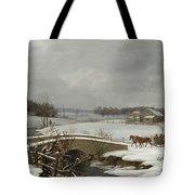Winter Scene In Pennsylvania Tote Bag