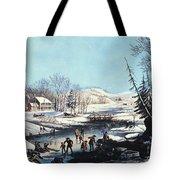 Winter Scene: Morning 1854 Tote Bag
