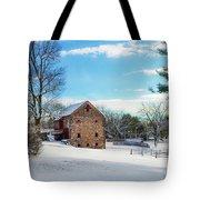 Winter Scene On A Pennsylvania Farm Tote Bag