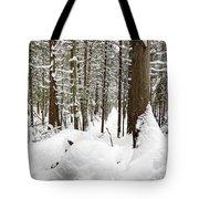 Winter Scene Print Tote Bag