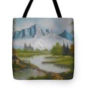 Winter Season Cloudy Weather Tote Bag