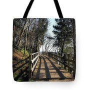 Winter Shadows At The Bridge Tote Bag