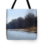 Winter Shoreline Walk  Tote Bag
